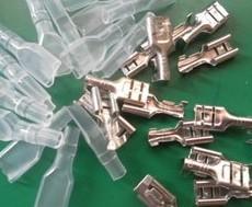 10 Pezzi 2.8MM plug spring Terminali, cold terminal, copper With the Silicone Case