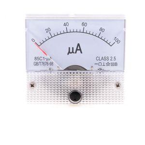 85C1-UA DC 0-100uA Analogico Panel Meter Amperometro Gauge
