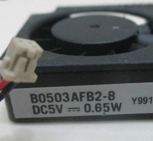 B0503AFB2-8 30x30x10 blower/side fan 5V 0.13A 0.65W