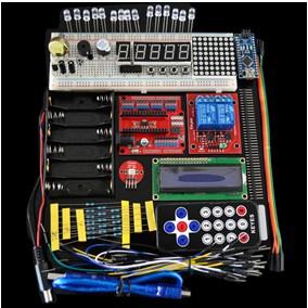 H016 UNO R3 Starter Kit 1602 LCD Servo Motore Dot Matrix Breadboard LED per Arduino kit01