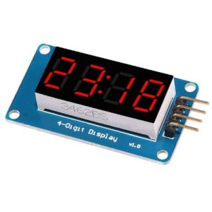 4 Bits TM1637 Red Digitale Tube LED Display Modulo With Clock for Arduono
