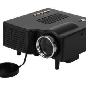 Excelvan Mini Proiettore Cinematografico Portatile Con LED HDMI PC VGA AV USB SD Nero Con Telecomando (Nero)