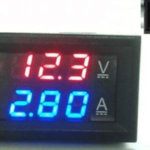 DC0-100V 50A Red+Blue and 50A Shunt Dual LED Voltmetro Amperometro Digitale