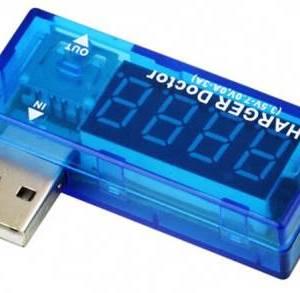 Amperometro USB Mini caricatore medico USB, lettore digitale amp volt, strumento di rilevamento tensione corrente, monitor di ri