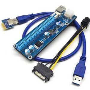 Cavo di alimentazione USB 3.0 PCI-E USB PCI-E all'ingrosso 60CM da 1X a 16X a 6 pin cavo di alimentazione per il mining di Bitco