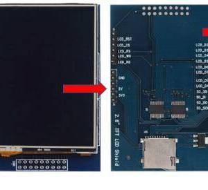 Modulo display touchscreen LCD TFT da 2,8 pollici per Arduino UNO