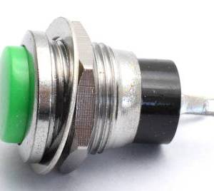 DS-318 / 12mm Botton / Green Nessun interruttore autobloccante