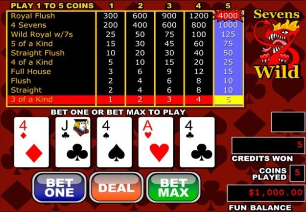 オンラインカジノのビデオポーカー
