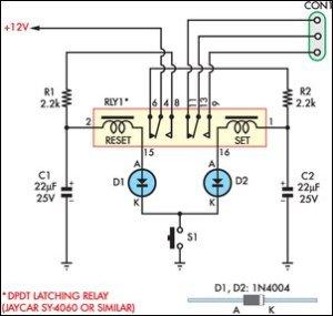 Bistabiel relais, teleruptor  Forum  Circuits Online