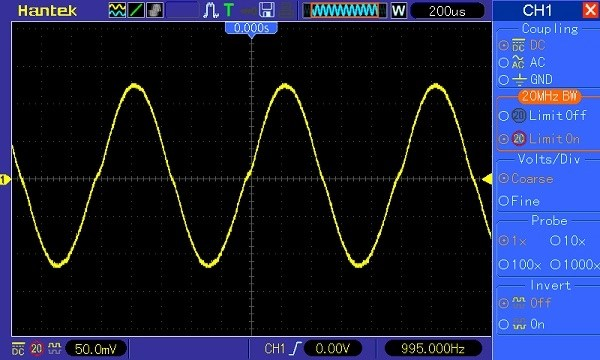 Hantek DSO5202P Waveform 2