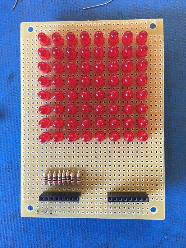 resistors in matrix top