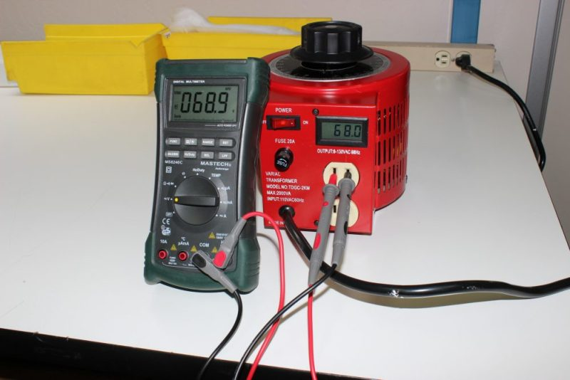 Monitoring Variac Output with a Digital Panel Meter (DPM)