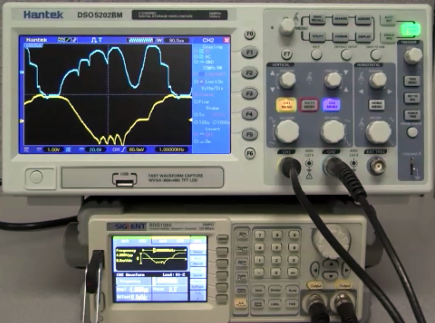 How to draw an Arbitrary Waveform using a function generator from