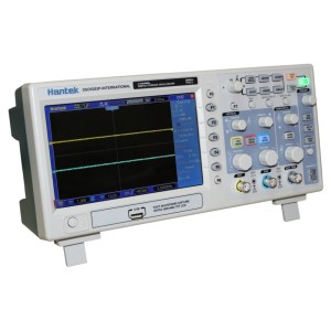 The best oscilloscope for hobbyists. 200 MHz 2 Channel Oscilloscope from Hantek