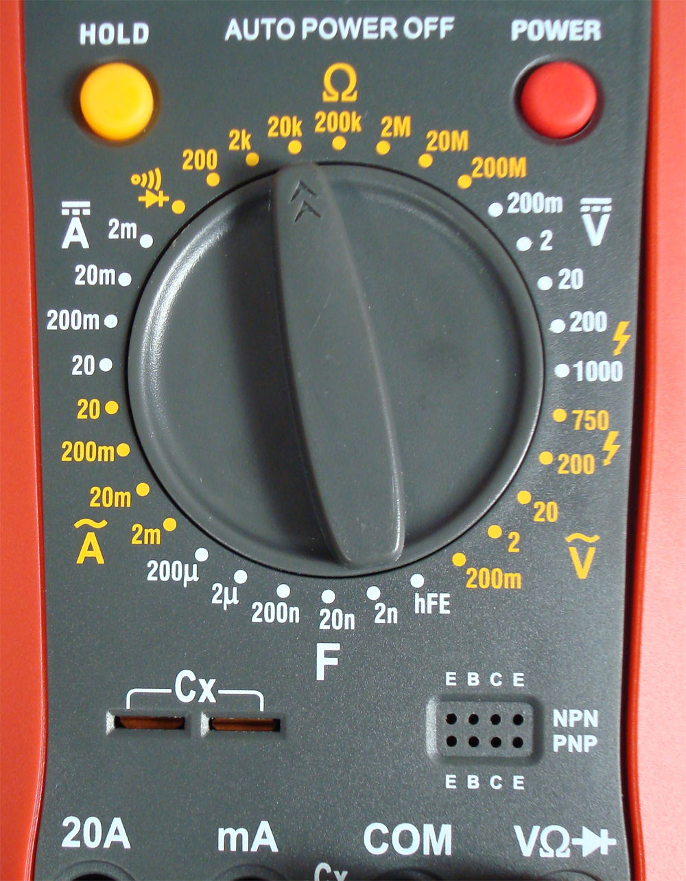Multimeter Transistor Test