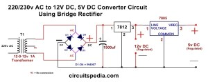 220230v ac to 12v5v DC Regulated Power DC converter
