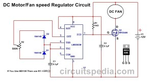 DC FAN Motor Speed Controller Regulator Circuit | DC Fan Controller