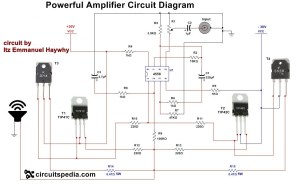 How to make Audio power Amplifier Circuit  Electronic