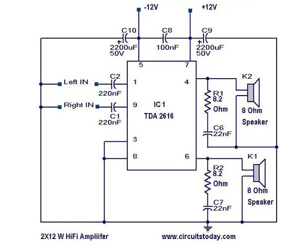 Hi Fi Amplifier circuit | Today's Circuits Amplifier Circuit Schematic on amplifier output diagram, audio amp schematic, power amp schematic, amplifier voltage gain, amplifier circuit project, amplifier circuit component, amplifier circuit design, amplifier parts, voltage amplifier schematic, stereo amplifier schematic, power transistor schematic, 2n3055 amplifier schematic, amplifier circuit connection, amplifier circuits using transistors, amplifier circuit board, amplifier circuit voltage, amplifier schematic diagram, amplifier circuit diagram, amplifier circuit switch, metal detector schematic,