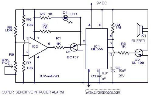 555 timer ic microcontroller robotics circuits more rh roboticsandmicrocontroller wordpress com Open Circuit Alarm Open Circuit Alarm