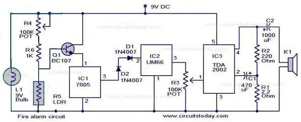 fire alarm circuits electronics projects rh electronicsprojectss wordpress com Door King Gate Circuit Board Schematics Car Alarm Circuit Diagram