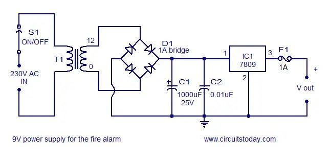 simple fire alarm circuit using ldr