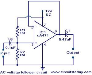 Voltage follower circuit  Electronic Circuits and DiagramsElectronic Projects and Design