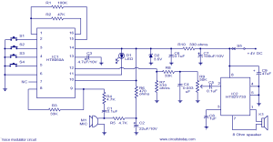 Voice modulator circuit  Electronic Circuits and Diagrams