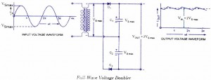Full-wave voltage doubler