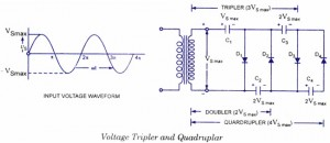 Voltage Tripler and Quadruplar