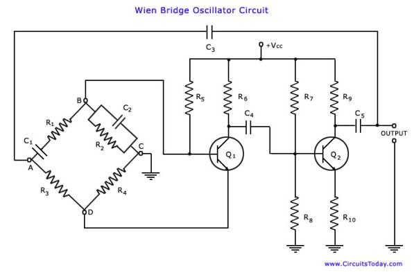 Image result for wein bridge oscillator