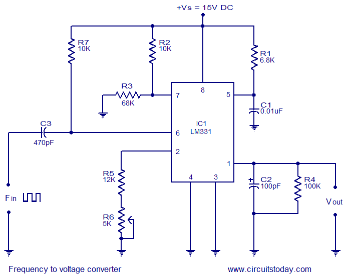 frequency to voltage converter using LM331