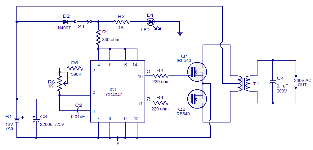 simple 100W inverter circuit weishaupt wm 30 wiring diagram wiring wiring diagram schematic  at reclaimingppi.co