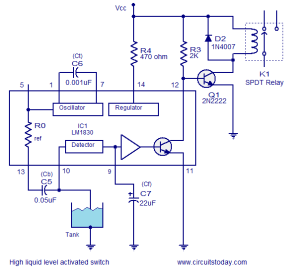 Electrical Engineering Tutorials: LM1830 based liquid