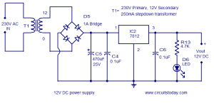 Water level controller circuit using transistors and NE555