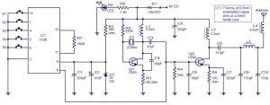 5 channel radio remote control circuit based of TX2B  RX