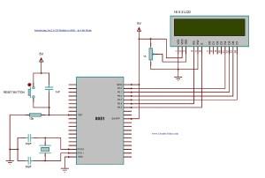Interfacing 16x2 LCD with 8051 microcontroller LCD module