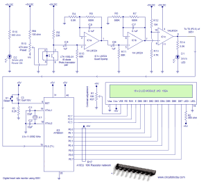 Heart rate monitor using 8051 microcontroller measures