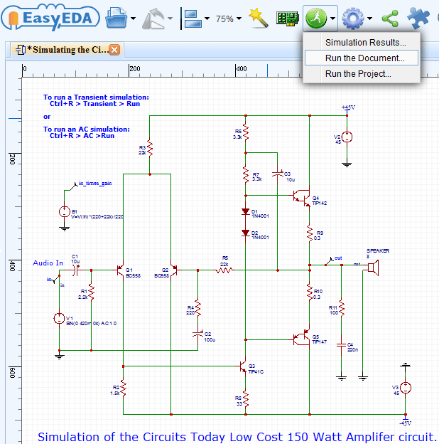 how to draw circuit diagram  pcb layout and simulate