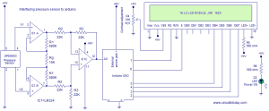 Interfacing SPD005G Pressure Sensor To ArduinoCircuit