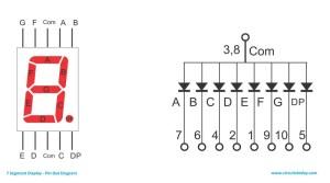 Arduino and Seven Segment DisplayInterfacing