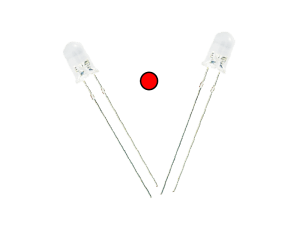 Red LED (Transparent) (pack of 5)