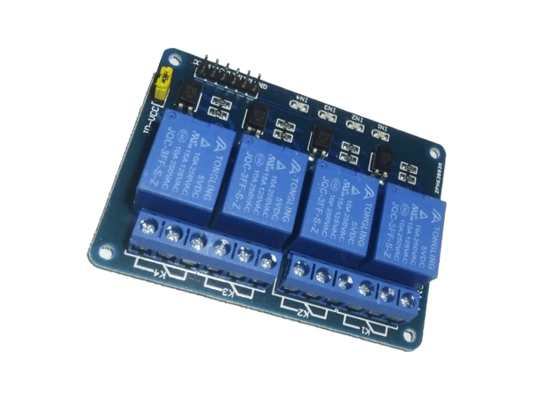 Four (4 channel) Relay (5V DC) Module - CircuitUncle - Buy in India