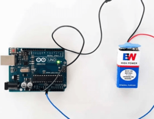 9 Volt HIW Battery Snap plug connection with Arduino UNO