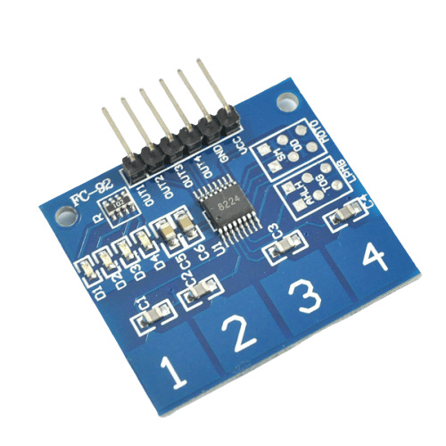 Four Channel Capacitive Touch Sensor - Buy in India - CircuitUncle