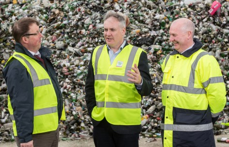 L-R: Grant Wilson of Moray Council; Cabinet Secretary for the Environment Richard Lochhead and Charlie Devine, Zero Waste Scotland, on a visit to Moray Council this year, to launch the second phase of the Resource Sector Commitment. - See more at: http://www.zerowastescotland.org.uk/content/moray-council-first-scotland-make-health-safety-commitment#sthash.dltXahqd.dpuf