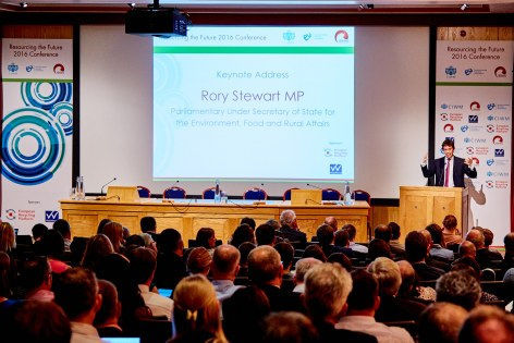 Defra minister, Rory Stewart delivering the keynote speech on day one