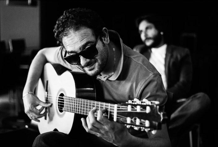 Foto de Diego del Morao, en clase magistral del Círculo Flamenco de Madrid, tomada por Rufo