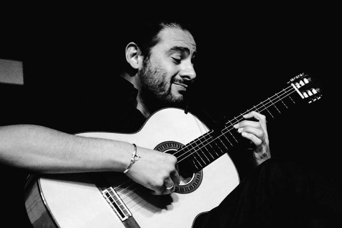 Foto de Diego del Morao en el Círculo Flamenco de Madrid, tomada por Rufo