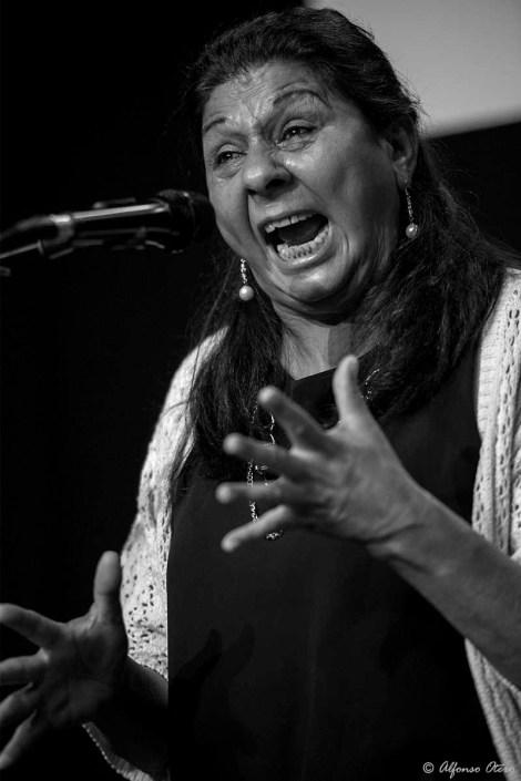 Foto de Dolores Agujetas en el Círculo Flamenco de Madrid, tomada por Alfonso Otero